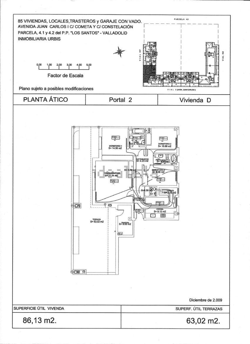 Ático en calle del Cometa, 2, Belén - Pilarica - Bº España, Valladolid