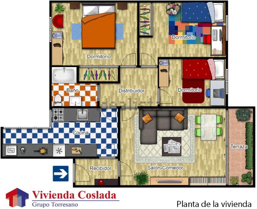 Piso en Rincón de la huerta, Coslada Pueblo, Coslada