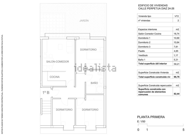 Imagen Plano de piso en calle Perpetua Díaz, 24 -, 26, Pradolongo, Madrid