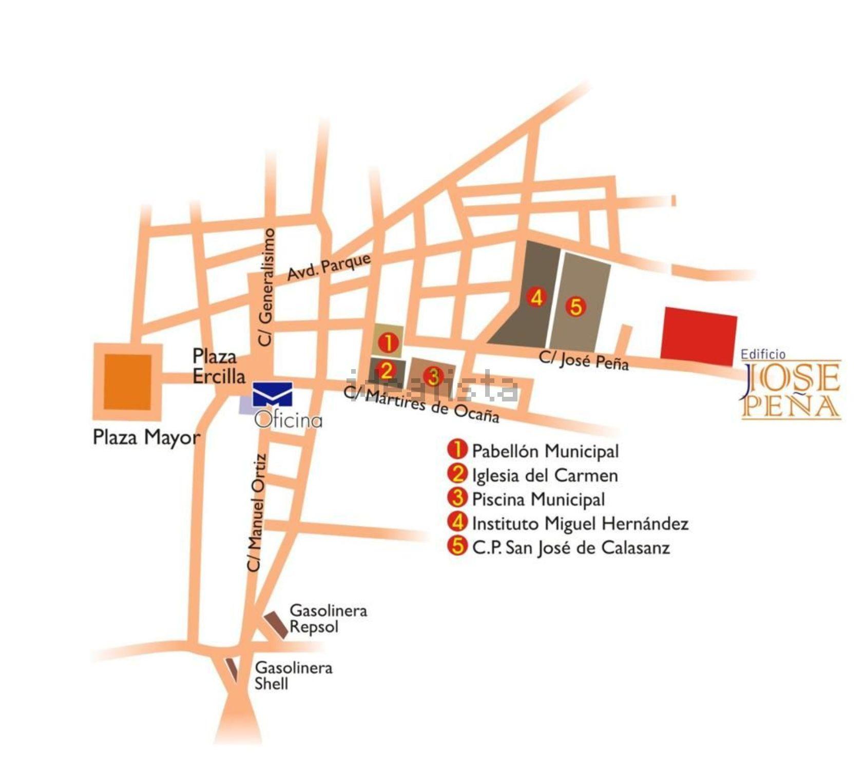 Imagen Plano de piso en calle Don José Peña, Puerta de Murcia - Colegios, Ocaña