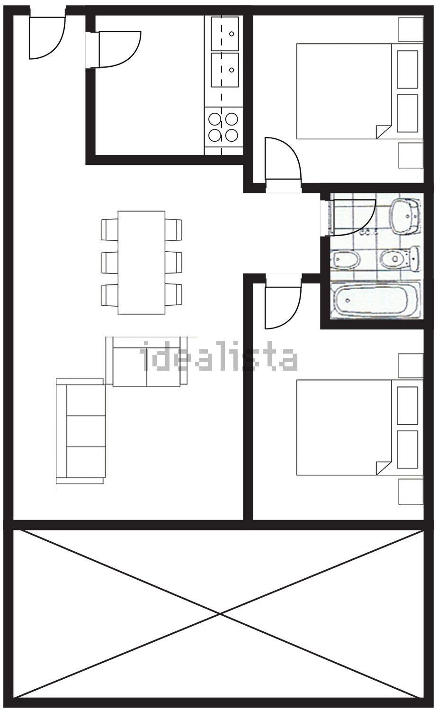 Imagen Plano de piso en avenida Ciudad de Tarragona, 2, Vera Playa Naturista, Vera