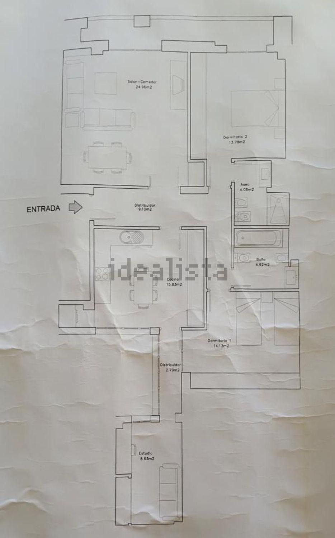 Imagen Plano de piso en calle Palos de la Frontera, 19, Centro, Huelva
